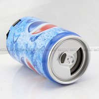 Wholesale freeshipping Pepsi USB Mini Portable Speaker Sound Box With FM Radio With TF Card Slot For Mp3 Mp4 Computer