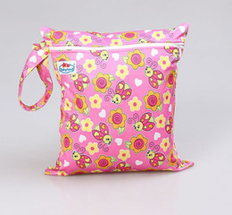 Wholesale Factory Price Babyland Waterproof Zipper Wetbag Colorful Baby Diaper Bag colors mixed