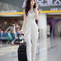 Sleeveless Long Pants 2013 Hot Women sexy Jumpsuit bodysuit summer new fold Harlan pants jumpsuits Harem Pants sleeveless Coveralls romper casual long jumpsuit