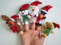 Stuffed baby family gifts - Plush Family finger puppets wool Wear toys inger doll Christmas gifts Baby doll
