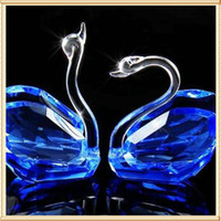 Wholesale Cheap Glass Swan Figurines Crystal Wedding Gift For Wedding Favors