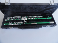 Wholesale Very nice army green silver to build wells plus the E key obturator flute instrument