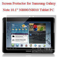 Wholesale 10pcs Screen protector for samsung galaxy note N8000 N8010 tablet pc N8000 screen guard