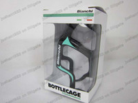 Wholesale 100 Original full carbon BIANCHI water bottle cage road bike accessories by epacket sell DIY complete bike pina