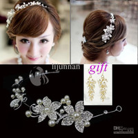Wholesale Hair accessories wedding Environmental Friendly pearl bridal headdress pc Flexible bending accessories for hair