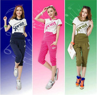 Wholesale 2013 new summer Korean leisure suit Hoodies sweater fashion ladies short sleeved casual wear