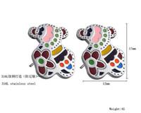 Wholesale Both men and women shared titanium steel earrings ge207j