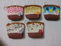 Wholesale korean flower basket coin bags wedding candy bags wallet coin purse