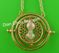 Wholesale Harry Potter Time Turner k gold necklace Horcrux harry potter fans gifts HARRY POTTER NECKLACE BAZ61
