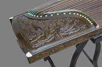 Wholesale Phoebe deep carving Kowloon guzheng playing professionally Zither Hand Carved Solid wood zither