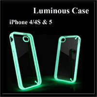 Plastic For Apple iPhone For Christmas Thin Luminous Case Double Color Hard Soft Case TPU + PC For iPhone 4 4S iPhone 5
