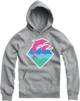 Wholesale Retail Chinese Size M XL hot sale bigbang dolphin printed pink dolphin hoodie hiphop clothes dolphin pullover color