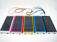 Wholesale Portable Mini solar battery panel usb ma solar battery pack power mobile phone battery charger mah for iphone mobile phone ipad