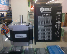 New Leadshine Digital stepper system DM860 Drives +86HS45 stepper motor NEMA 34 a set work well in Engraving machine