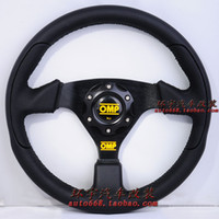 Wholesale Omp automobile race steering wheel full genuine leather modified steering wheel general car tuning steering wheel