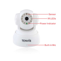 Wholesale Tenvis JPT3815W WHITE Security Day amp Night Vision Way Audio WPA Internet Wifi Wireless IP Camera