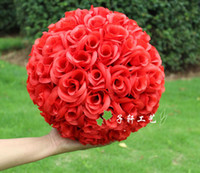 Wholesale Brand new cm Simulation of high quality encryption rose flowers ball for the New Year festive wedding decorations bouquet