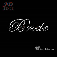 Wholesale Rhinestone Iron on Transfers Korean Rhinestone Motif Bridal Design Free Custom Design