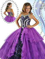 Wholesale 2013 New Girl s Pageant Dresses Beads Sequin Ball Gown Shining Girl Dresses RG