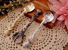 Wholesale 60 Christmas gift Coffee spoon Ice cream scoop Seashell Classical style Tableware