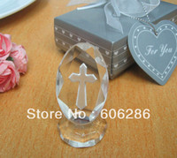 Wholesale to Singapore Malaysia newest d laser engraved crystal cross gifts for wedding favors