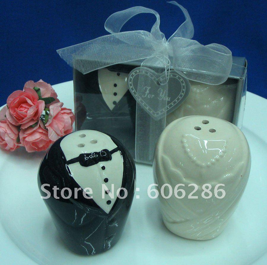 Wedding Gifts For Bride And Groom Online : Wedding Favors And Gifts for Guest the Bride And Groom Ceramic Salt ...