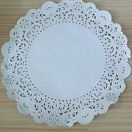 Wholesale Paper Doily quot Round Paper Doilies Lace Paper Pad Pastry Paper Mat Coaster pc FREE BY FEDEX