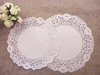 Wholesale Paper Doily Pierced quot Round Paper Doilies Pad Lace Paper Mat Cake Pastry Paper pc FREE BY EMS