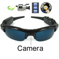 No mobile eyewear recorder - hot sell Spy Camera Sunglasses w Hidden Camera sunglass camera mini DV Mobile Eyewear Recorder Spy Video sunglass Camera no retail packing