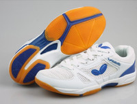 Wholesale butterfly table tennis shoes WTS professional race shoes white blue