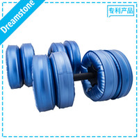 Water Poured Dumbbell dumbbells - Dumbbell Water Bottle Water Filled Dumbbell have RoHS approved pairs by EMS