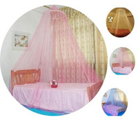 Wholesale European style Korean princess Royal lace Ceiling Dome bed Mosquito Net nets
