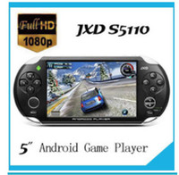 Wholesale DHL JXD S5110 MP3 MP4 MP5 Game Player Android OTG WIFI inch touch Screen Games JX
