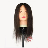 Wholesale real human hair salon school hairdressing training PVC plastic mannequin model head with wigs stand periwig holder