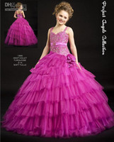 Spaghetti aa pictures - A line Girl s Pageant Dresses Gown Spaghetti Flower Girls Dresses AA