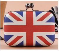 Clutch bag american flag - British flag American flag mini evening bag clutch bag Shoulder Messenger bag woman bag D