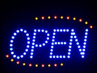 Wholesale nled001 b Blue OPEN Classic LED Neon Business Light Sign