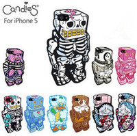 Cliche Candies Skeleton Man Silicon Protector Case Robot Cov...