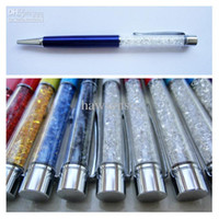 Wholesale 14CM OEM Lady Crystal Ballpoint Pen Send as Gift with Clear Colorful Rhinestone Diamond Replaceable