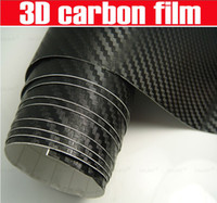 Wholesale 3D Carbon Fiber Vinyl Film Wrap Car Sticker Bold Texture Bubble Free Availbale size mx m m m m m