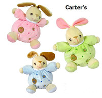 Wholesale Toddler Baby Kids cute rabbit comforter plush Toys bell infant doll toy colors TJ W0003