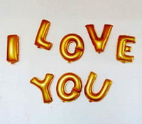 Wholesale Set of letters Foil Balloons for birthday party props and Wedding Decoration