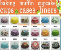 Wholesale Fedex MIXED styles paper baking cups cupcake liners muffin cases cake cups