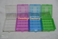 Wholesale Fedex Hard Plastic Case Holder Storage Box AA AAA Battery batteries Portable