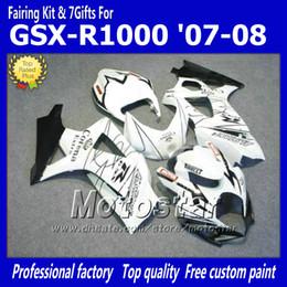 7 Gifts motorcycle fairings for SUZUKI 2007 2008 GSX-R1000 07 08 GSX-R1000 K7 GSXR1000 GSX R1000 white Corona ABS fairing dd71