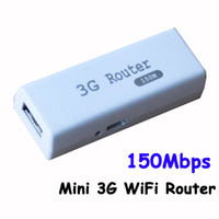 Wireless 3G VPN Mini Wireless 3G Router Portable WiFi Hotspot AP Router 150Mbps Support RJ45