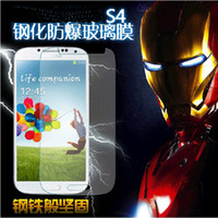 Wholesale Tempered Glass Clear HD H9 Transparent Screen guard Flim Premium Anti Scratch shatterproof Protector For Galaxy S4 i9500 s3 iphone