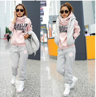 Wholesale 2013 Hot New Korean Women fashion casual suits three piece sweater thicken women sportswear