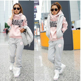 Wholesale 2013 Hot New Korean Women fashion casual suits three piece sweater thicken women sportswear