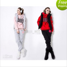 Wholesale 2013 Hot New Korean Women fashion casual suits three piece sweater thicken women sportswear free sh